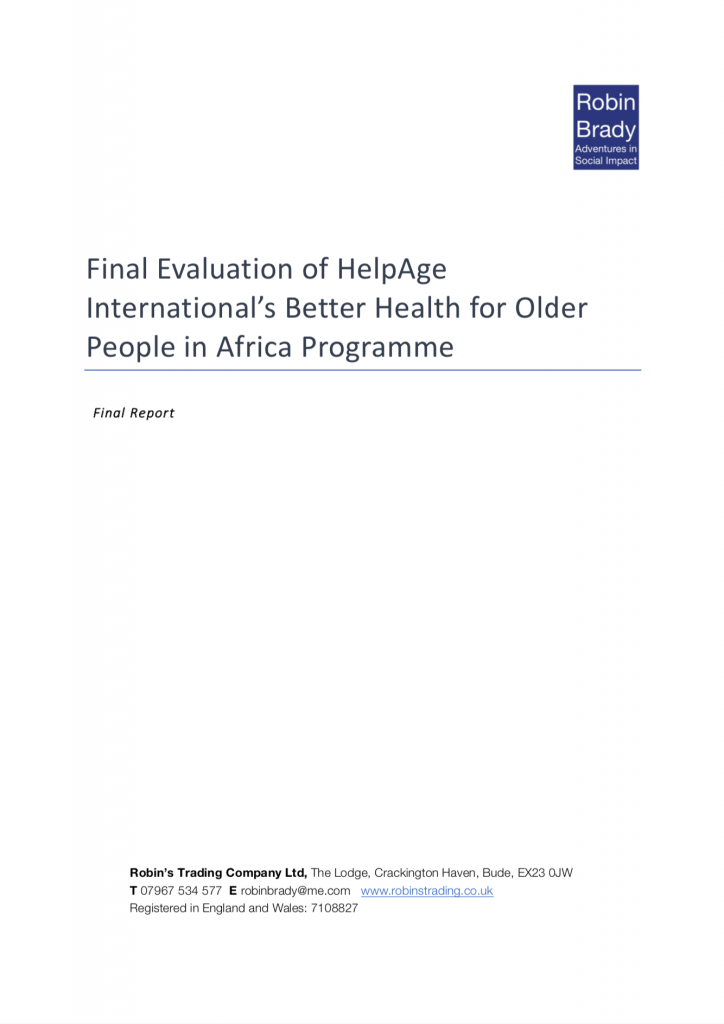 Better Health for Older People in Africa