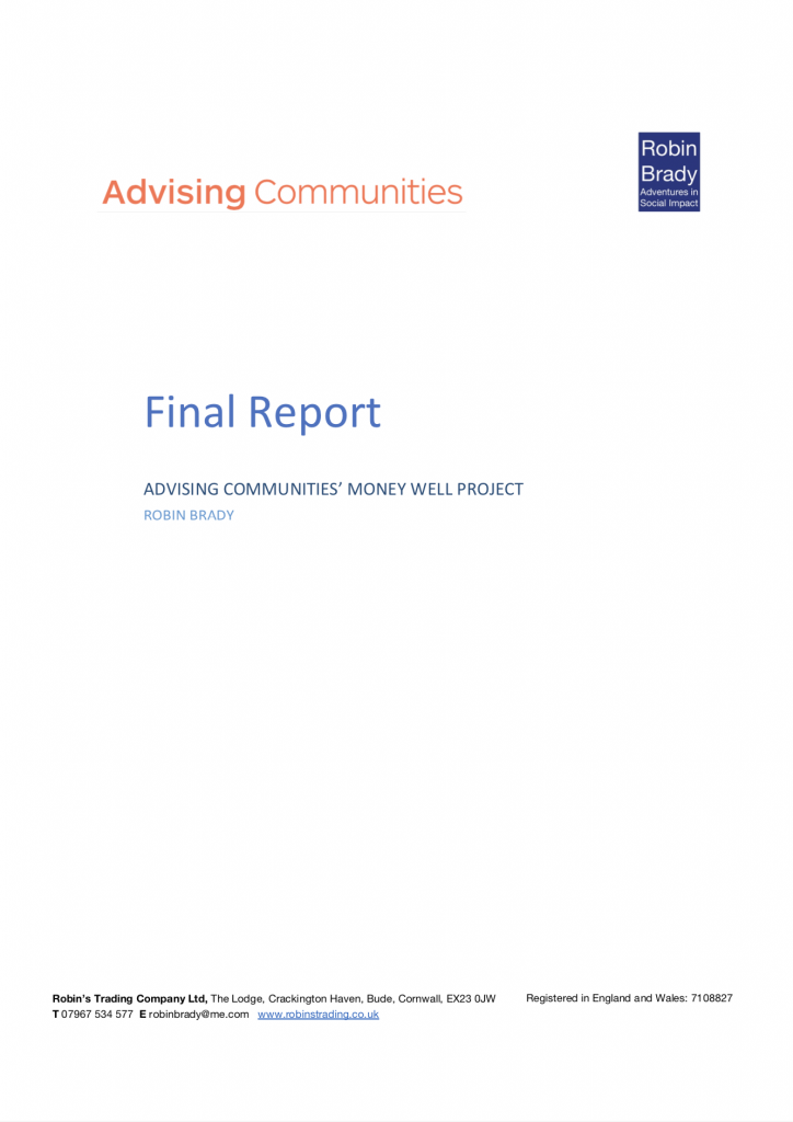 Advising Communities Money Well Project